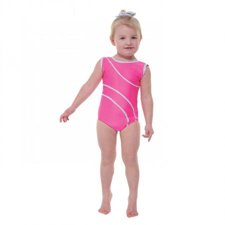 Tappers and Pointers Detail 1 Sleeveless Leotard with Silver Hologram Detailing - Lipstick