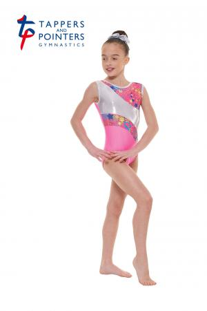 Tappers and Pointers Gym 39 Sleeveless Carnival Gymnastics Leotard - Pink - Strictly Dancing