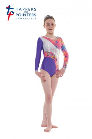 Tappers and Pointers Gym 40 Long Sleeve Carnival Gymnastics Leotard - Purple - Strictly Dancing
