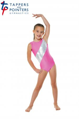 Tappers and Pointers Gym 5 Sleeveless Gymnastics Leotard - Lipstick