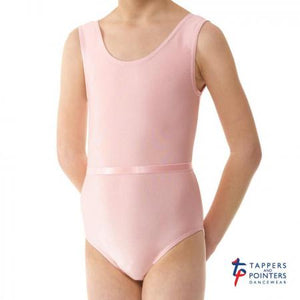 Tappers and Pointers June Sleeveless Lycra Children's Leotard - Pink - Strictly Dancing