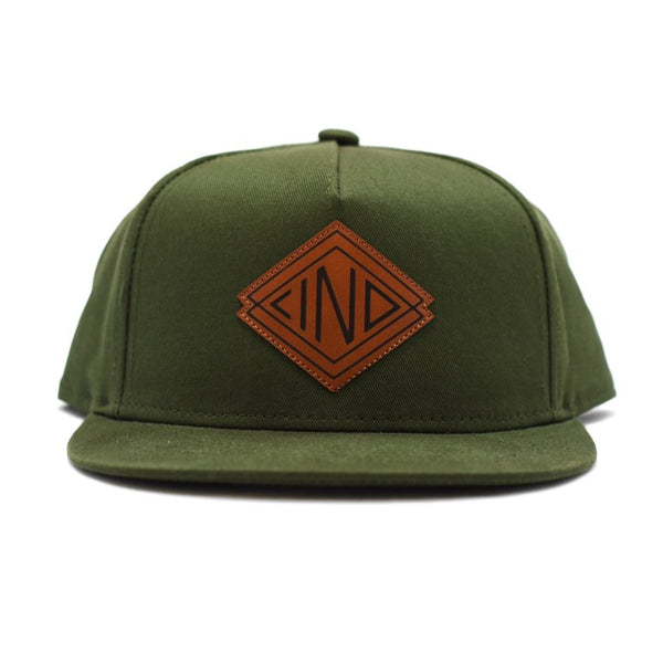 IND Leather Patch Cap