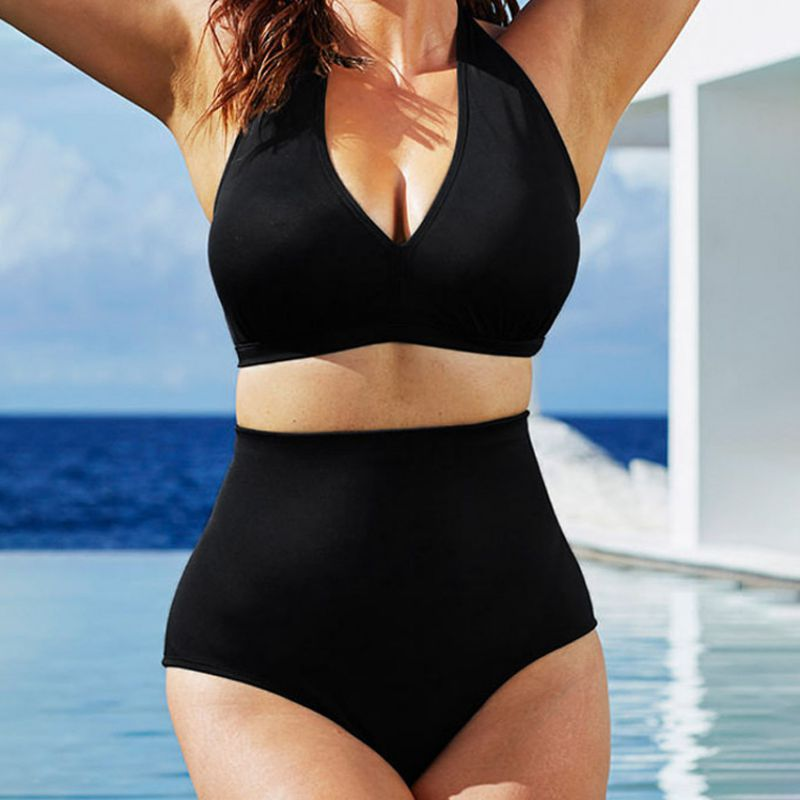 High Waisted Full Coverage  Bikini