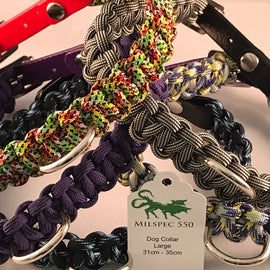 Paracord Dog Collars X Small to Large