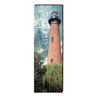 "Currituck Lighthouse Home Decor Art Print on Real Wood (9.5""x30"")-Mill Wood Art"