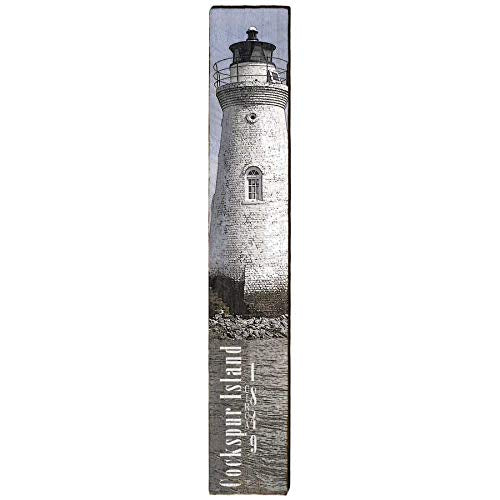 "Cockspur Island Lighthouse Home Decor Art Print on Real Wood (9.5""x60"")-Mill Wood Art"
