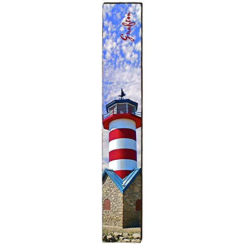 "Grafton Lighthouse Home Decor Art Print on Real Wood (9.5""x60"")-Mill Wood Art"
