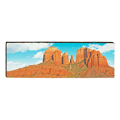 "Cathedral Rock, Arizona Landscape Home Decor Art Print on Real Wood (9.5""x30"")-Mill Wood Art"
