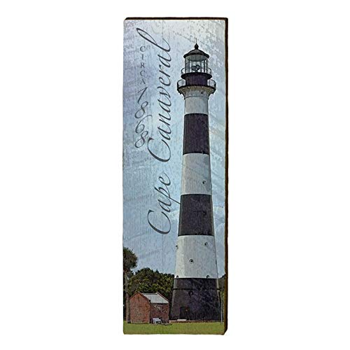 "Cape Canaveral Lighthouse Home Decor Art Print on Real Wood (9.5""x30"")-Mill Wood Art"