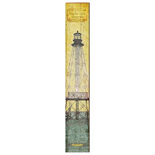 "Alligator Reef Lighthouse Home Decor Art Print on Real Wood (9.5""x60"")-Mill Wood Art"