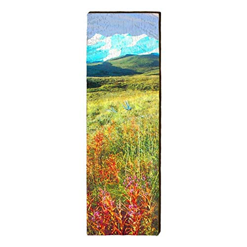 Excellent Fireweed Alaska Home Decor Art Print On Real Wood 9 5 Home Interior And Landscaping Ologienasavecom