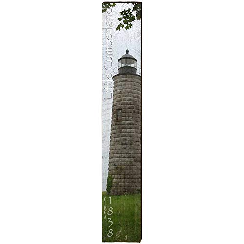 "Little Cumberland Lighthouse Home Decor Art Print on Real Wood (9.5""x60"")-Mill Wood Art"