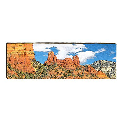 "Rock Formation Arizona Landscape Home Decor Art Print on Real Wood (9.5""x30"")-Mill Wood Art"