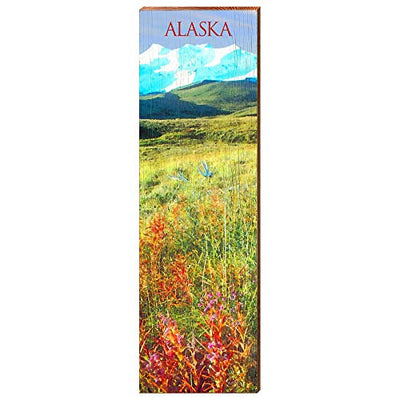 "Alaskan Fireweed Home Decor Art Print on Real Wood (9.5""x30"")-Mill Wood Art"
