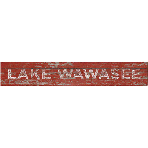 Lake Wawasee Red Rustic ABS1
