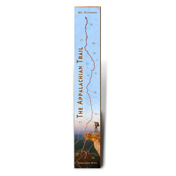 Appalachian Trail Mountain Scene Large Trail Map