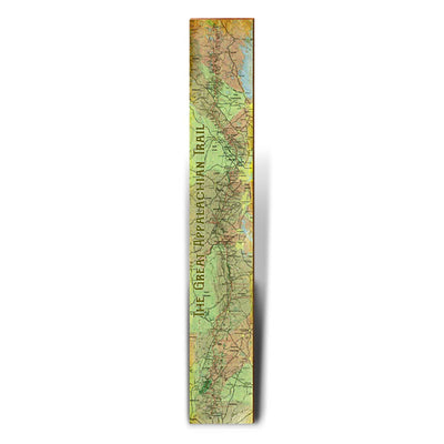 "Great Appalachian Trail Topographical Large Trail Map | Size: 9.5"" x 60"" Wall Art-Mill Wood Art"