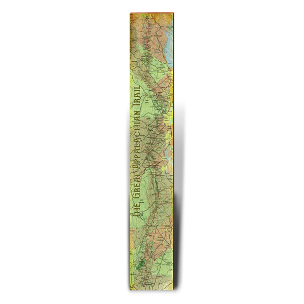 Great Appalachian Trail Topographical Large Trail Map