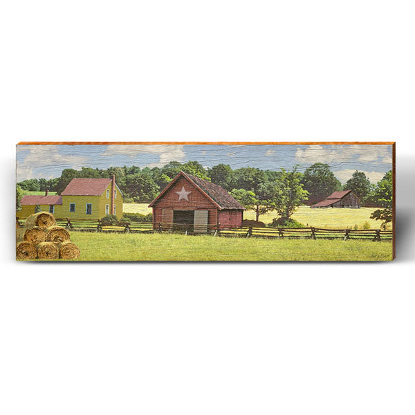 White Star Barn Piece-Mill Wood Art
