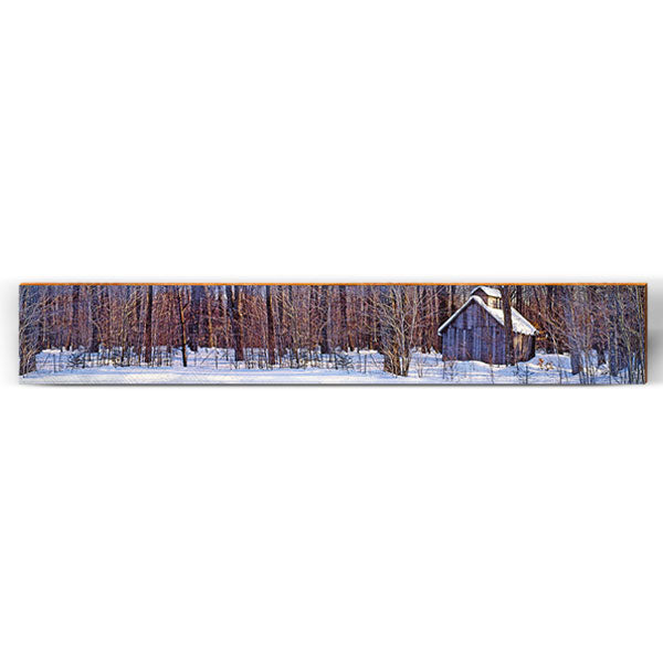 "Snowy Woods Barn Large Piece | Size: 9.5"" x 60""-Mill Wood Art"