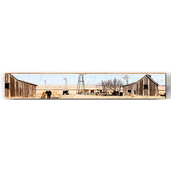 "Open Plains Barn Large Piece | Size: 9.5"" x 60""-Mill Wood Art"