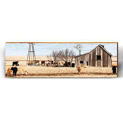 Open Plains Barn Piece-Mill Wood Art
