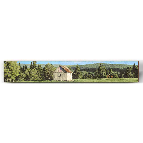 "Rolling Hills Barn Large Piece | Size: 9.5"" x 60""-Mill Wood Art"