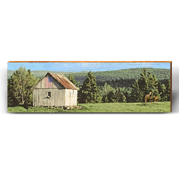 Rolling Hills Barn Piece-Mill Wood Art