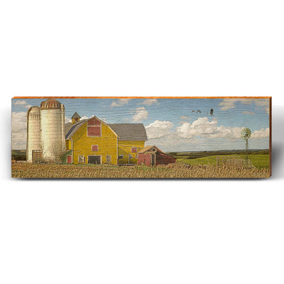 Silo Country Barn Piece-Mill Wood Art