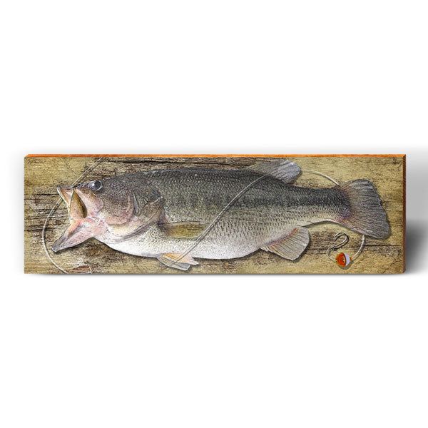 Wide Mouth Bass Piece-Mill Wood Art
