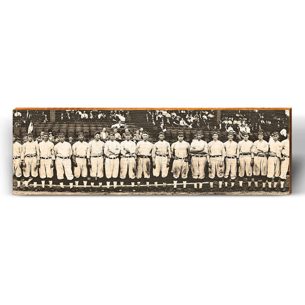Classic Baseball Team Photo Piece-Mill Wood Art