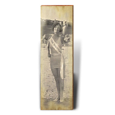 Vintage Houston Beauty Photo-Mill Wood Art