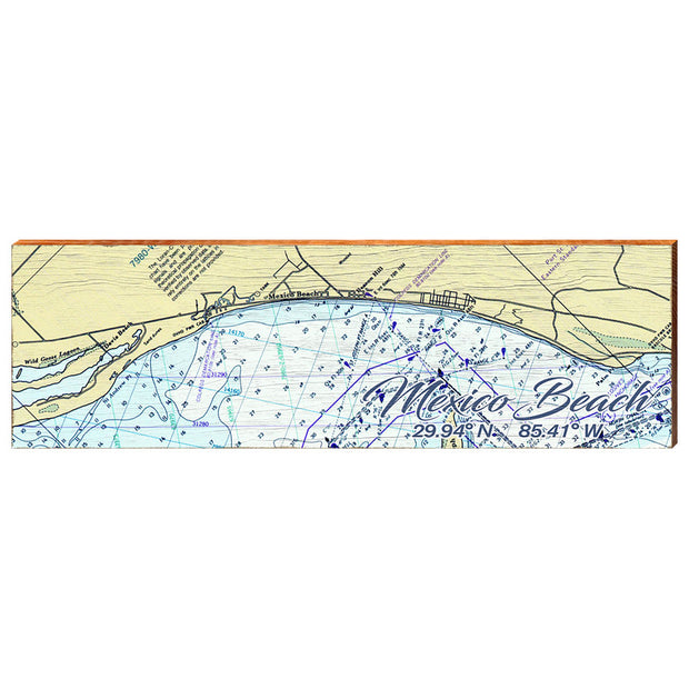Mexico Beach, Florida Navigational Chart Wall Art-Mill Wood Art