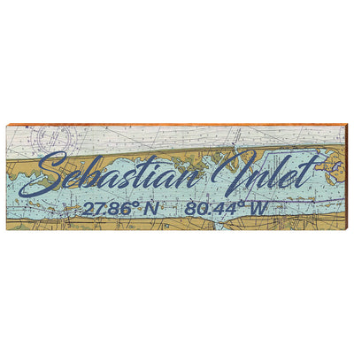 Sebastian Inlet, Florida Navigational Chart Wall Art-Mill Wood Art