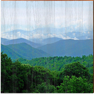 Blue Ridge Mountains Square Piece