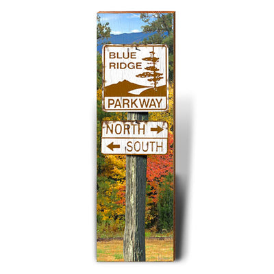 Blue Ridge Parkway North/South Directional Sign-Mill Wood Art