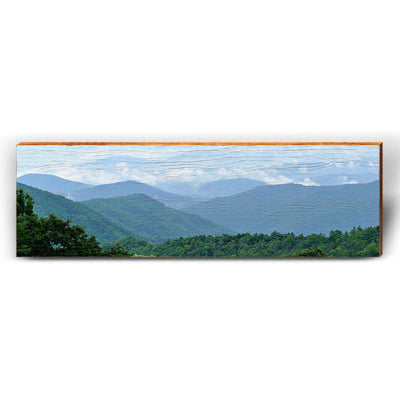 Blue Ridge Mountains Piece-Mill Wood Art