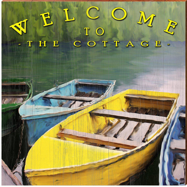 Welcome to the Cottage Colorful Boats BLU4
