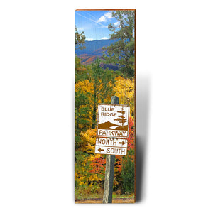 Blue Ridge Parkway Fall Foliage Directional Sign
