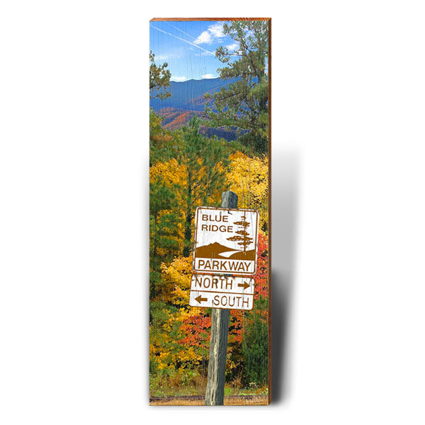 Blue Ridge Parkway Fall Foliage Directional Sign-Mill Wood Art