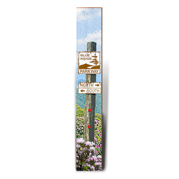 "Blue Ridge Parkway Large Directional Sign | Size: 9.5"" x 60""-Mill Wood Art"