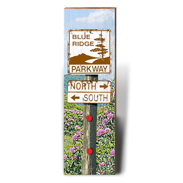 Blue Ridge Parkway Directional Sign-Mill Wood Art