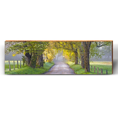 Country Roads Piece-Mill Wood Art