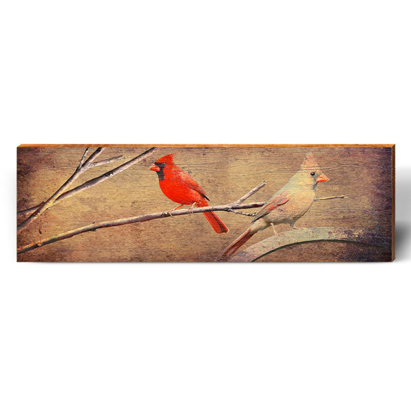 Vintage Cardinals-Mill Wood Art
