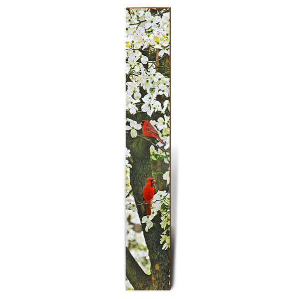 "Cardinal in Dogwood Tree Large Piece | Size: 9.5"" x 60""-Mill Wood Art"