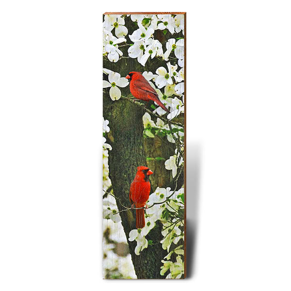 Cardinal in Dogwood Piece-Mill Wood Art