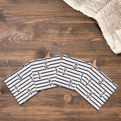 Anchor Pattern |Drink Coaster Set