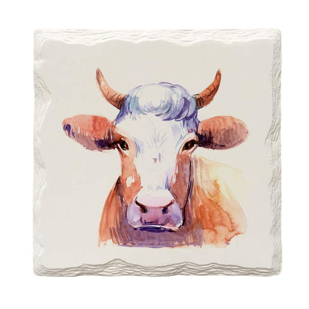 Cow Face |Drink Coaster Set