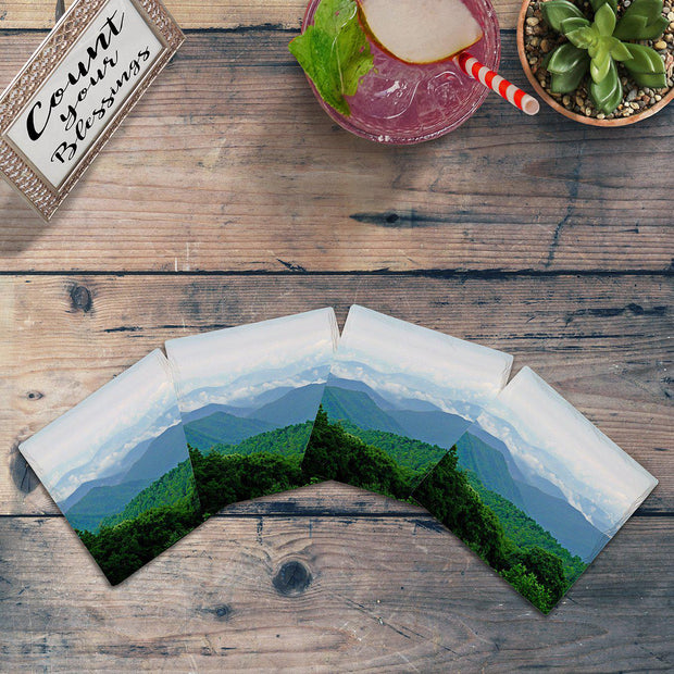 Blue Ridge Mountains |Drink Coaster Set