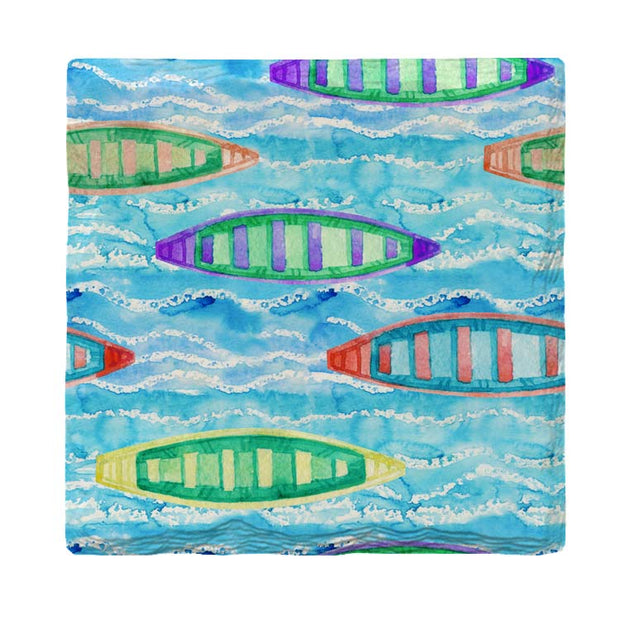 Colorful Canoes-Mill Wood Art